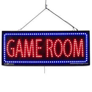 """""""GAME ROOM"""" LED Business Sign - Extra Bright LEDs, Can Be Seen Through Tinted Windows. Extra Large 32 inches Wide (#2596)"""