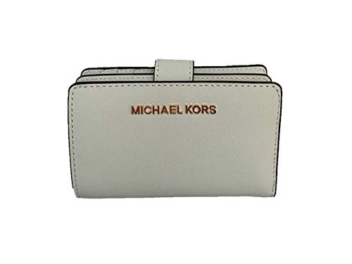 Michael Kors Jet Set Travel Bifold Zip Coin Wallet - Optic White