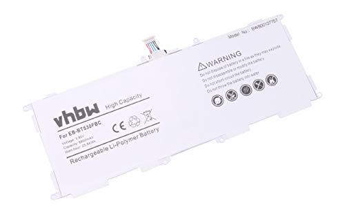 vhbw Batterie Compatible avec Samsung Galaxy Tab 4 VE 10.1 LTE-A, SM-T530, SM-T531, SM-T533, SM-T535 Laptop (6800mAh, 3,8V, Li-Polymère)