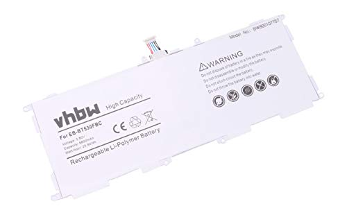 vhbw Batterie Li-Polymer 6800mAh (3.8V) pour Netbook Pad Tab Tablette Samsung Galaxy Tab4 10.1 LTE, Galaxy Tab4 10.1 Wi-FI comme EB-BT530FBC.