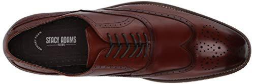 Stacy Adams Men's Dunbar-Wingtip Oxford, Cognac, 9.5 M US
