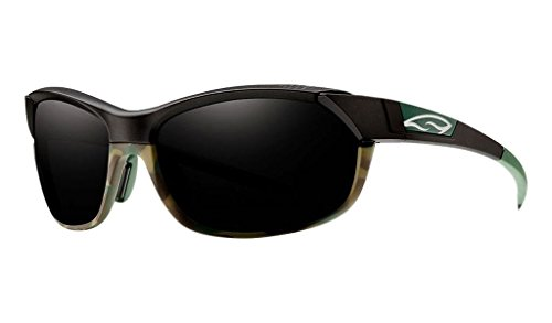 Smith Optics Pivlock Overdrive Sunglass with Blackout, Ignitor, Clear Carbonic TLT Lenses, Matte Trail Camo