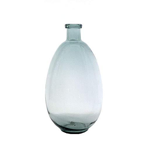 Godin Onregelmatige Ovale Handgemaakte Bubble Glas Vaas, Drop-vormige Transparante Glas Vaas, Woonkamer Keuken Decoratie