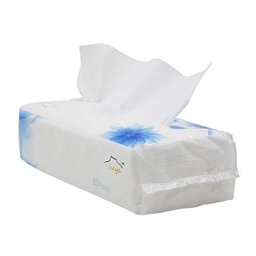 Frcolor Lot de 80 serviettes jetables en coton pour le visage