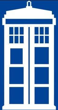 !st-Class-Designs Doctor Who Tardis, Vinyl-Aufkleber, 15,2 x 7,6 cm, für Auto, Fenster, Wand, Laptop, Notebook, etc, Weiß