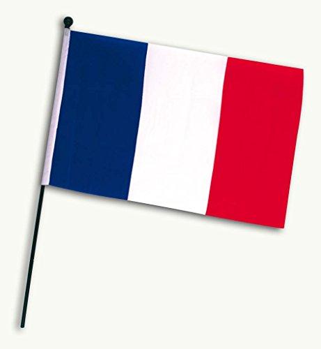 KarnevalsTeufel Frankreich-Fahne Frankreich-Flagge Fußball Handmall Wandschmuck blau-weiß-rot