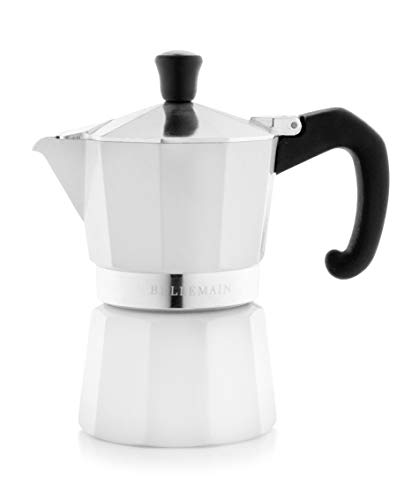Why Choose Bellemain Stovetop Espresso Maker Moka Pot (White, 3 Cup)