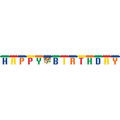 Happy Birthday Buchstabenkette * Bausteine * ca. 236 cm