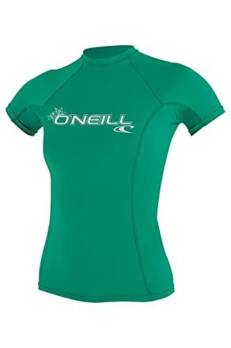 O'Neill Damen Basic Skins UPF 50+ Short Sleeve Rash Guard Seaglass XS