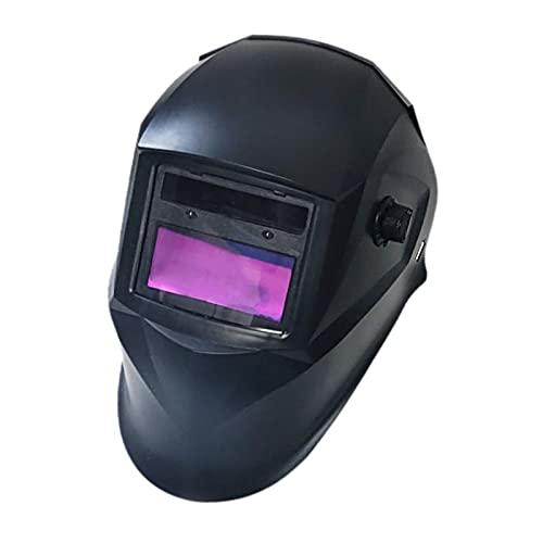 kowaku Casco de Soldadura de Oscurecimiento Automático con Energía Solar de Gran Visión, Capucha de Máscara de Soldador de Sombra Ancha con Sensor de 4 Arcos