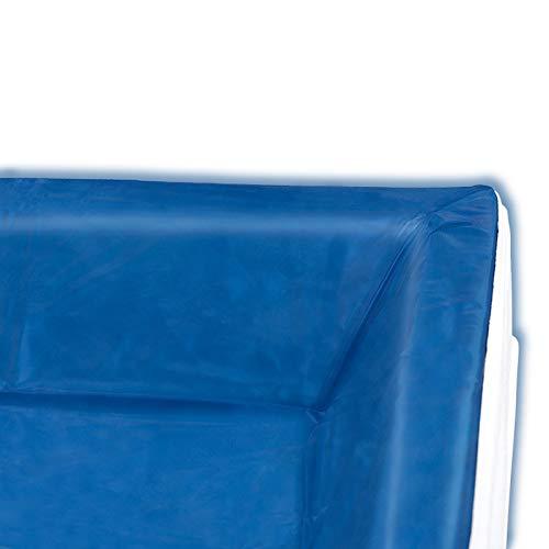Liner - Vinyl-Schutzfolie für RWM Aqua Edition und AQUALOGIC - die Schutzwanne für Ihr Wasserbett - Höhe innen: 15-17 cm gerade - alle Wasserbettgrößen z.B. 200x220 cm
