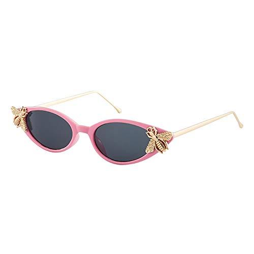 Moda Gafas De Sol De Ojo De Gato para Mujer, Diseñador De Marca, Gafas De Sol Retro Vintage, Decoración De Abeja De Metal, Gafas De Sol De Ojo De Gato, Gafas De Sol Rosa