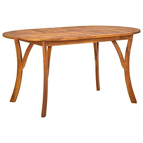 vidaXL Akazienholz Massiv Gartentisch Esstisch Holztisch Terrassentisch Balkontisch Gartenmöbel Tisch Massivholztisch Outdoor 150x90x75cm