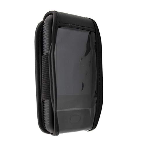 caseroxx Handy Tasche Ledertasche mit Sichtfenster für Ihr Dexcom G6 in schwarz aus Echtleder