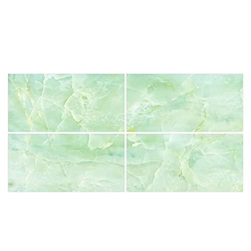 DealMux 4 piezas de azulejos de mármol de cristal pegatinas de pared a prueba de agua papel tapiz autoadhesivo pegatinas de pared
