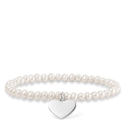 Thomas Sabo Damen-Armreifen Künstliche Perle LBA0046-082-14-L16,5