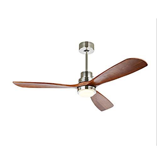 Araña de ventilador de madera maciza, sala de estar, comedor, luz de ventilador de dormitorio, conversión de frecuencia de energía eólica grande Ventilador de techo silencioso con luz ( Color : 3 )