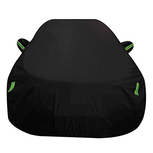 Outdoor Car Cover/Compatible With BMW X2 / Four Seasons Universal Keep Warm Shelter Carport Snow Protection Car Tent Tarpaulin Breathable Mobile Car Library (Color : Black, Size : 2019)