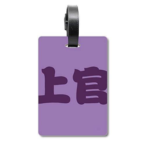 Etiqueta de identificación para Maleta China de Shangguan con el Nombre del Personaje de China