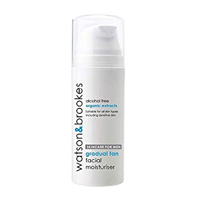Watson & Brookes Facial Tanning Moisturiser - The Best Sensitive Moisturising Face Cream For Men 100ml - Leaves Skin Smooth, Refreshed And Moisturised. Gradual Self Tan - Fragrance Free - Essential Skincare & Tanning For Gentlemen - Proudly Made In The UK
