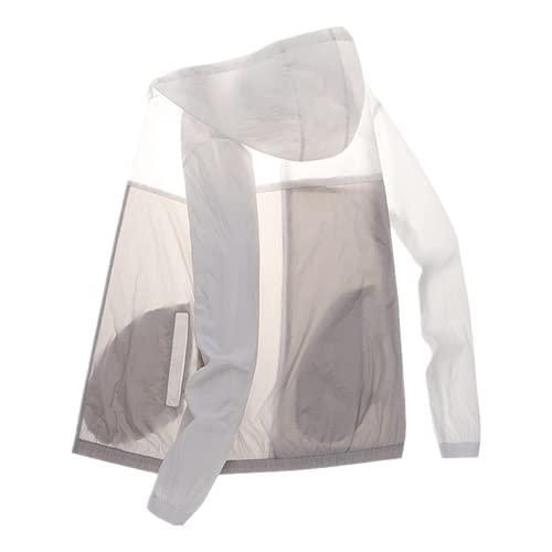 Protección solar ropa de los hombres delgado verano chaqueta cortavientos deportes al aire libre