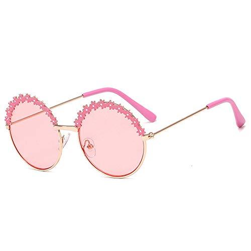 Gafas de sol de los niños flor de la manera, lentes redondas...