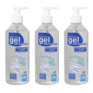 lot de 3 gel mains hydroalcoolique sans rinçage...