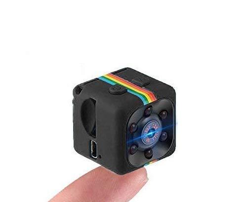 SQ11 Mini cámara 1080P , Mini Cam , Portable HD Nanny Cam ( visión nocturna, FOV140, 1080P, cámara en miniatura ) Cámaras encubiertas Mini grabadora de video deportes Security Cámara