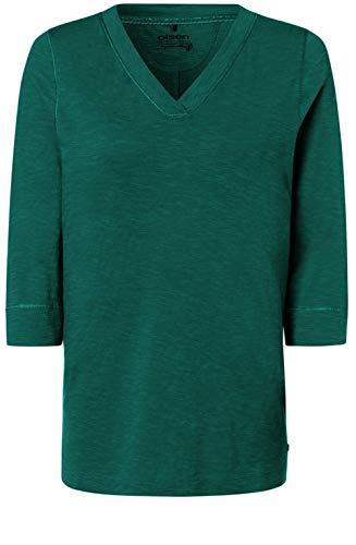 Olsen - Camiseta de Manga Corta, Color Verde
