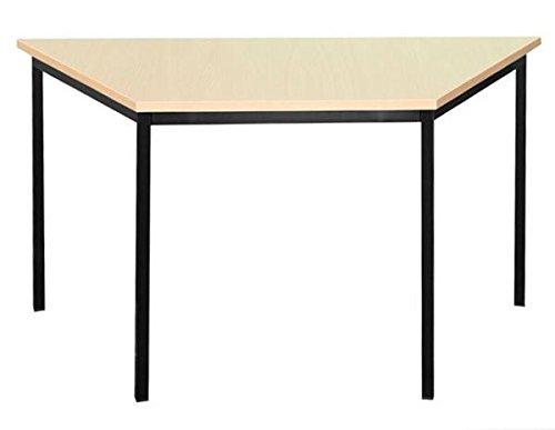 334032 Schreibtisch Profi Trapeztisch Besprechungstisch Büromöbel Konferenztisch Computertisch 160x80cm schwarz/Ahorn Dekor