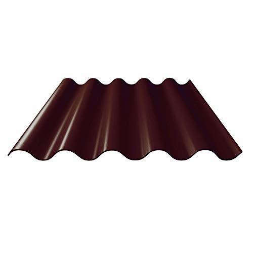 Faserzement Wellplatte | Faserzementplatte | Profil 5 | Material Faserzement | Stärke 6,50 mm | Farbe Dunkelbraun