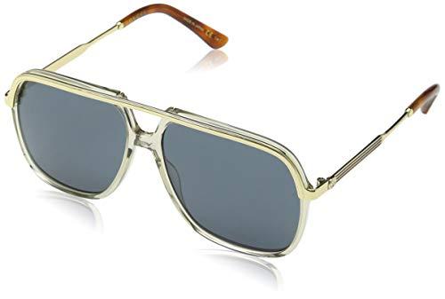 Gucci GG0200S 004 Gafas de sol, Marrón (4/Bluee), 57 Unisex Adulto