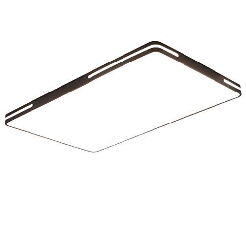 Lámpara de Techo Plafón minimalista moderno rectangular negro borde dormitorio sala comedor luz de techo Luminaria de Techo (Color : White light)