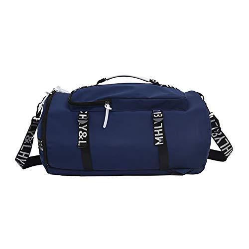 Sac de Sport Multifonctionnel avec Sac de Rangement Sec et Humide et Compartiment à Chaussures Imperméable et Durable pour Voyage 3 en 1 Sac à Dos Travel Bag & Duffel Bag,Blue