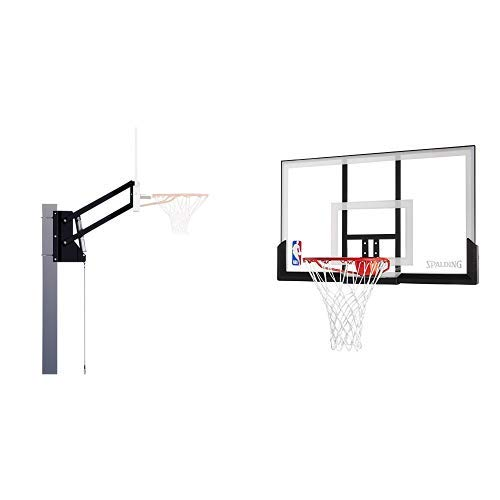 "Spalding U-Turn Lift System Bracket and Spalding NBA Backboard/Rim Combo - 52"" Acrylic Backboard"