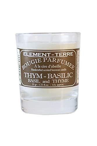 ELEMENT-TERRE Vela perfumada 35Gramos, 8Horas Perfume Tomillo albahaca