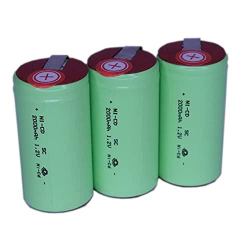 正規容量 国内から発送 22.5x43mm NI-CD Sub-C SC ニカド ニッカド ミニ単2 サブC セル エアガン 電動ガン ドライバー ドリル 工具 掃除機 充電池 バッテリー (3)