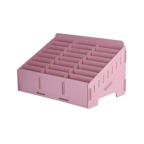 SCDZS Caja de Almacenamiento de Madera del Organizador del Escritorio del Tenedor del teléfono Celular for la Oficina de la Sala de Clase