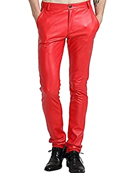 Best red leather pants men Reviews
