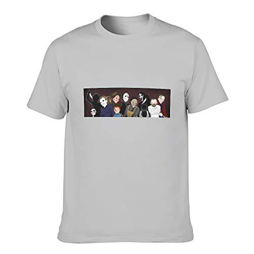 Camiseta de algodón de Halloween para hombre - Películas Vintage Out Top