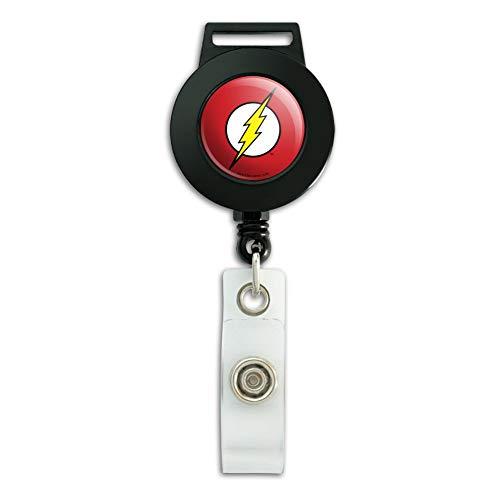 The Flash Lightning Bolt Logo Lanyard Retractable Reel Badge ID Card Holder