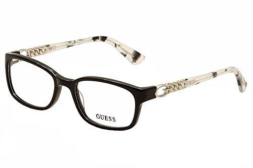 Guess Eyeglasses GU2558 GU/2558 001 Black Print/Silver Optical Frame 51mm