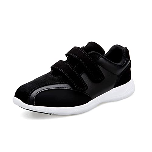 Męskie, damskie spuchnięte buty, wiosenne i jesienne regulowane buty do chodzenia na cukrzycę, przytulne buty do domu z obrzękiem stawów (Color : Black, Size : 35 EU)