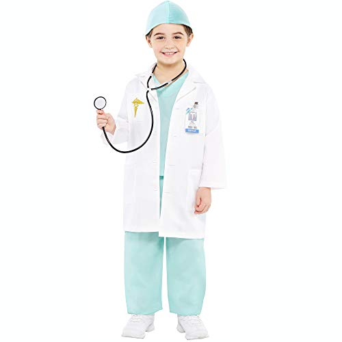 Christys Dress Up 999659/999660 - Disfraz Infantil de médico, 4 a 6 años