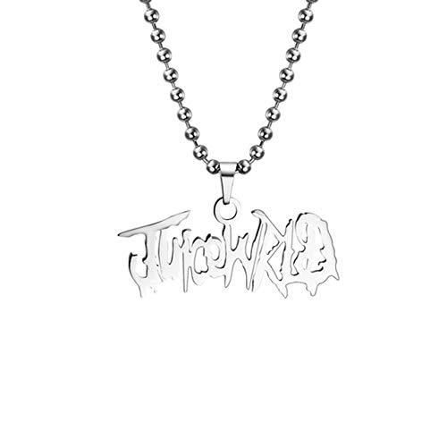 Naswi 2020 Mode Herz Anhänger Rapper Saft Wrld Halskette Perlenkette Edelstahl 999 Wrld Halsketten Geschenk Für Männer Fans Schmuck