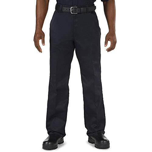 5.11 Tactical Men's Company Work Casual Pants, 100% Cotton Twill Wrinkle-Resistant Fabric, Fire Navy Blue, 30Wx30L, Style 74398