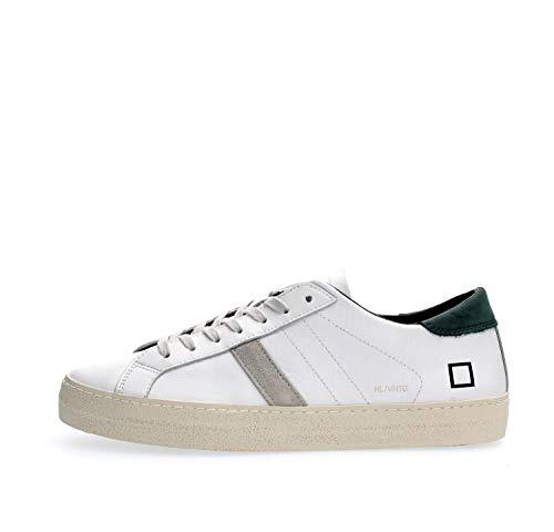 D.a.t.e. Sneaker Hill Low Vintage Calf White-Green Taglia 43 - Colore Bianco/Verde