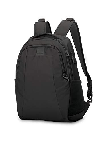 PacSafe Metrosafe LS350 anti-theft 15L backpack Rucksack, 42 cm, 15 liters, Schwarz (Black...