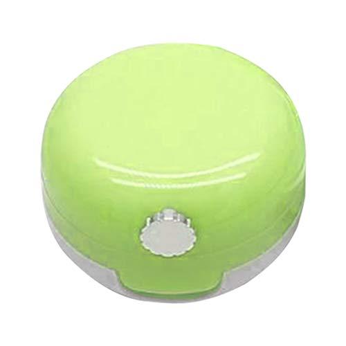 Bonarty Vides Pots Cosmétiques Récipient de Verre Pots Voyage pour Crème Paillette Maquillage Poudreavec Miroir - vert