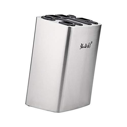 Aitaolian Caja De Acero Inoxidable Cuchillo De Soporte con 6 Ranuras Cuchillo, Bloque del Cuchillo Multifunción Sin Cuchillos De Cocina